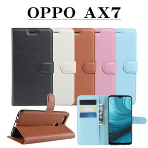 OPPO AX7 手帳型ケース カードケース付き スタンド機能付き スマホカバー IIJ 楽天モバイル orcdmepro
