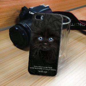 iPhone 5S/5 iPhone SE アニマルフェイス ペルシャ猫 黒 ハードケース スマホカバー PC ポリカーボネート|orcdmepro