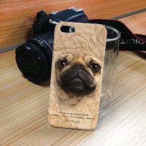 iPhone 5S/5 iPhone SE アニマルフェイス ブルドッグ 茶 犬 ハードケース スマホカバー PC ポリカーボネート|orcdmepro