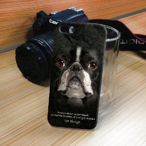 iPhone 5S/5 iPhone SE アニマルフェイス ブルドッグ 黒 犬 ハードケース スマホカバー PC ポリカーボネート|orcdmepro