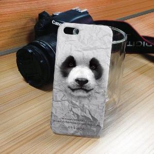iPhone 5S/5 iPhone SE アニマルフェイス パンダ ハードケース スマホカバー|orcdmepro