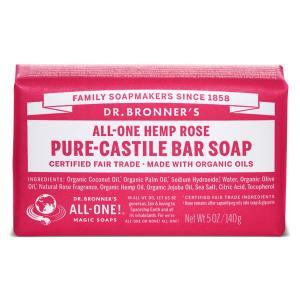 ドクターブロナー マジックソープバー ローズ 140g DR BRONNER MAGIC SOAP ALL ONE HEMP ROSE PURE CASTILE SOAP|orchid