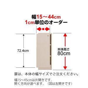 オーダーマルチラック専用 後付扉 幅15〜44cm片開き 高さ80cm用 Type80|ordershunostyle