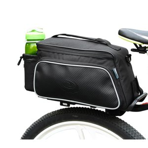 ROSWHEEL 10L リアキャリアバッグ 14815-A ブラック / 大容量 多機能 カゴ 荷台 自転車 バイク バッグ サドル シート 黒 トップチューブ フレーム oremeca