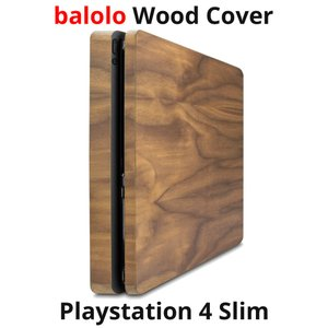 balolo PlayStation 4 slim 専用 木製カバー PS4 プレイステーション4 スリム SONY ソニー 高級 保護 オリジナル カバー ケース ケースカバー|oremeca