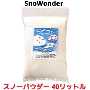 SnoWonder スノーパウダー 40リットル 人工雪 インスタントスノー 粉雪 クラウドスライム スライム 雪 DIY クリスマス パーティー 実験 ディスプレイ|oremeca