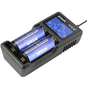 XTAR エクスター VC2 14500 18650 対応 ...