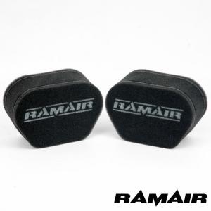 RAMAIR ラムエア 2連セット  エアフィルター MS008 MSソックス FCR/TMR/CR...