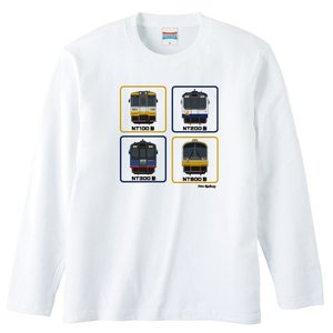 のと鉄道Tシャツ長袖ホワイトサイズ:S-XL「front4」|oreno-shop
