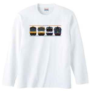 のと鉄道Tシャツ長袖ホワイトサイズ:S-XL「side4」|oreno-shop