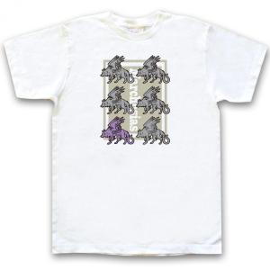 幻想動物Tシャツ「マルコシアス」半袖ホワイト|oreno-shop