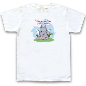 幻想動物Tシャツ 「いぬこしあすカラー」半袖ホワイト|oreno-shop