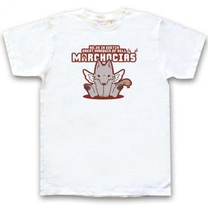 幻想動物Tシャツ「いぬこしあす ブラウン」半袖ホワイト|oreno-shop