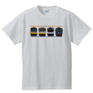 のと鉄道Tシャツ半袖ホワイトサイズ:S-XL「side4 」|oreno-shop