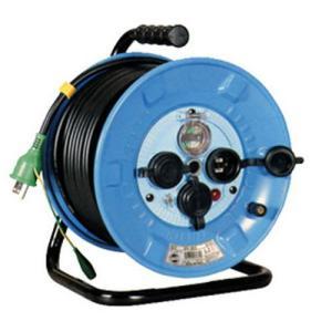 日動 電工ドラム 防雨防塵型100Vドラム アース漏電しゃ断器付 30m/NPW-EB33|oretachi