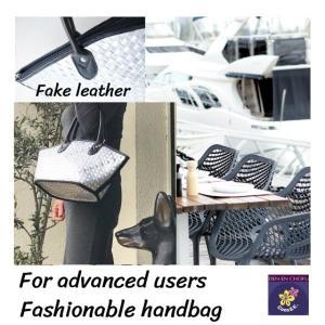 ハンドバッグ  ジュースパック製 フェイクレザー使用 軽量 スマイル oretrose-coco-k