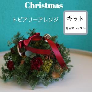 動画 クリスマス トピアリー アレンジ レッスン キット レギュラー oretrose-gift