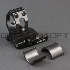 25/30mm QDオートロック ライフルスコープマウント シングル|orga-airsoft