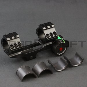 25/30mm トップレール+アングルインジケーター付きライフルスコープマウント|orga-airsoft
