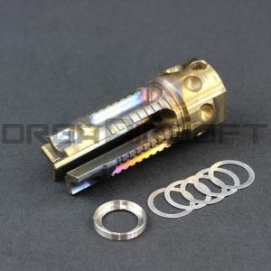 G&P 3 Prong フラッシュハイダー 焼き入れタイプ 14mm 正ネジ(CW)|orga-airsoft