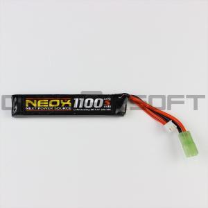 NEOX Lipo7.4v 25C/40C 1100mAh 電動ガン バッテリー|orga-airsoft