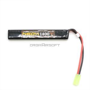 NEOX Lipoバッテリー 電動ガン用 7.4v 20C/40C 1400mAh|orga-airsoft