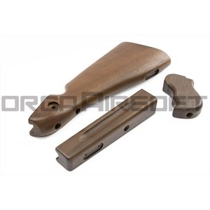 【タイムセール商品】RATECH トンプソンM1A1 Wood Stockキット WE M1A1 サイバーガン|orga-airsoft