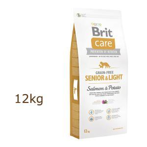 ブリット ケア brit グレインフリー シニア&ライト ドッグフード 12kg|organic-eins