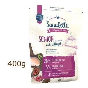 ザナベレ シニア&チキン グルテンフリー 400g キャットフード sanabelle 賞味期限2021年11月25日 (外袋なしでのお届けとなります)|organic-eins