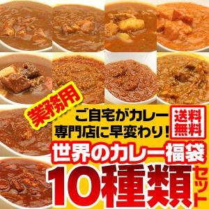 送料無料 業務用 カレー 世界のカレー福袋10種類入り キー...