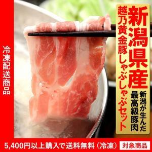 豚肉 新潟県産 越乃黄金豚しゃぶしゃぶセット 600g(4000円以上まとめ買いで送料無料対象商品) (lf)