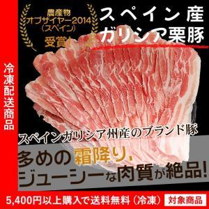 (豚肉)スペイン産こだわりブランド豚 ガリシア栗豚500g(肩ロース)(スライス)(4000円以上まとめ買いで送料無料対象商品) (lf)
