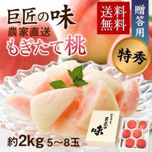 お中元 果物 桃 ギフト 送料無料 山梨県産 産地直送 特秀...