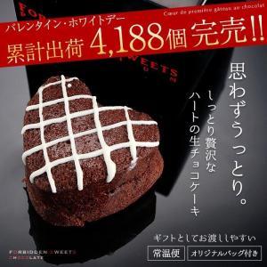 バレンタイン 2018 チョコレート プチギフト ケーキ ハートの濃厚生チョコケーキ ホワイトメッシュ(vj)