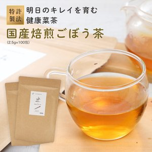 国産 ごぼう茶 2.5g 100包( 50包 x 2袋 ) ごぼう100% 九州産 ティーパック|organickitchen