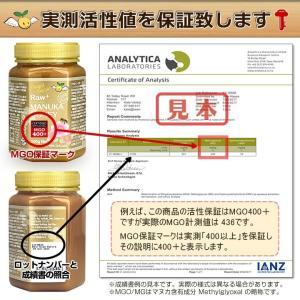 マヌカハニー MGO200+ Angelbean ニュージーランドMPI認証 生はちみつ [500g]|organicnoni|03