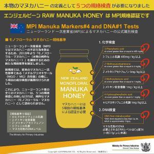 マヌカハニー MGO200+ Angelbean ニュージーランドMPI認証 生はちみつ [500g]|organicnoni|04