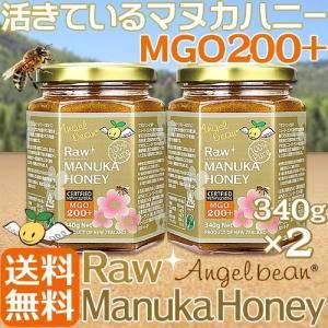 マヌカハニー MGO 200+ (MGS,UMF8+〜11+) エンジェルビーン 生マヌカハニー[340g]2個セット|organicnoni