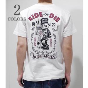 スカルワークス 半袖 プリントTシャツ SKULL WORKS PISTON LOW BLOW SKULL SST 111815 20%OFF|organweb