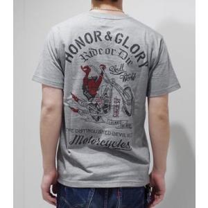 スカルワークス 半袖 プリントTシャツ SKULL WORKS CHOPPER DEVIL SST 111823|organweb