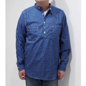 ダッパーズ 長袖 プルオーバー ワークシャツ Dapper's Classical Stand Collar Pullover Work Shirts 1342|organweb