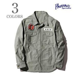 フェローズ PHERROW'S エンジニアシャツ シャツジャケット ANGB SHIRT JACKET 18S-PEGJ1|organweb