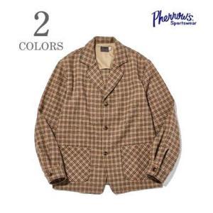 フェローズ ウール シャツジャケット PHERROW'S CHECK SHIRT JACKET 19W-PTS-CH organweb