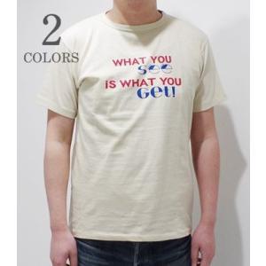 ダブルワークス 半袖 プリントTシャツ DUBBLEWORKS WHAT YOU SEE E.C.R. SST 39003-WHATYOUSEE|organweb