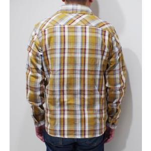 ウエス 長袖 チェックワークシャツ UES 先染めヘビーネルシャツ 501951 organweb 02