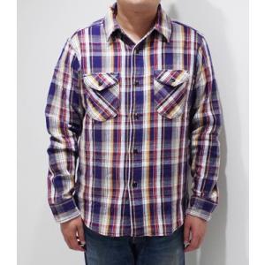 ウエス 長袖 チェックワークシャツ UES 先染めヘビーネルシャツ 501951 organweb 03