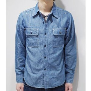 フェローズ 長袖 シャンブレーシャツ PHERROW'S 40's MODEL CHAMBRAY WORK SHIRT 770WS|organweb|02