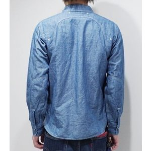 フェローズ 長袖 シャンブレーシャツ PHERROW'S 40's MODEL CHAMBRAY WORK SHIRT 770WS|organweb|03