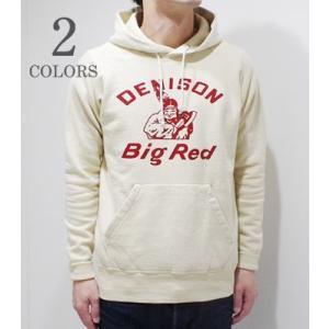ダブルワークス ラグランスリーブ プリントプルパーカー DUBBLEWORKS DENISON Big Red PULL PARKA 83004-DENISON|organweb
