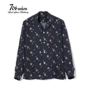 706union 50's|長袖シャツ|レーヨン|オープンカラーシャツ『SPIDER WEB L/S...